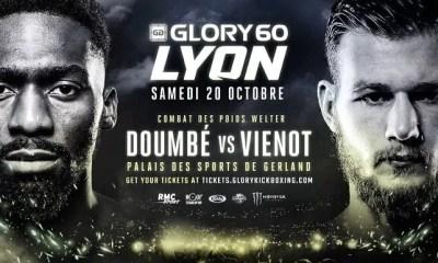 GLORY 60 Lyon - DOUMBE vs VIENOT - Découvrez la carte des combats mise à jour