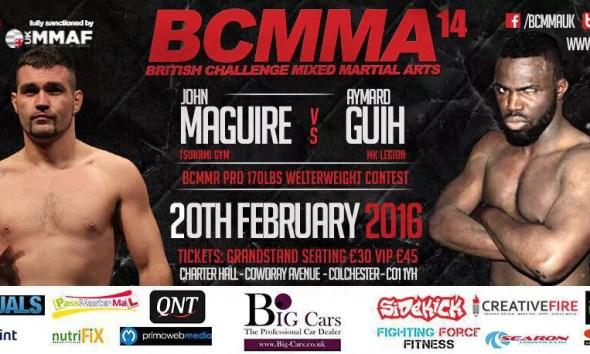 Aymard Guih Vs John Maguire - Full Fight Video - BCMMA 14