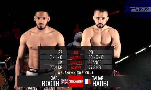 Tahar HADBI vs Carl BOOTH - MMA FIGHT VIDEO - BRAVE 5