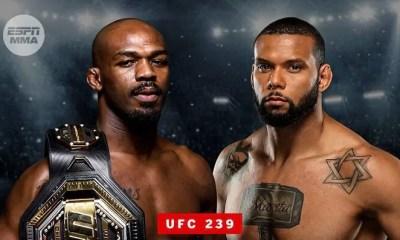 Jon JONES vs Thiago SANTOS annoncé pour l'UFC 239