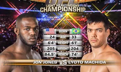 Jon JONES vs Lyoto MACHIDA - MMA FIGHT VIDEO - UFC Title