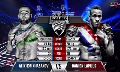 Damien LAPILUS vs. Alikhan KHASANOV - Full Fight Vidéo - AD WARRIORS