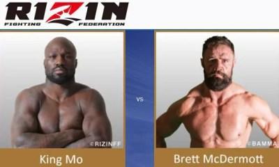 King Mo vs Brett McDermott - Full Fight Video - Rizin FF