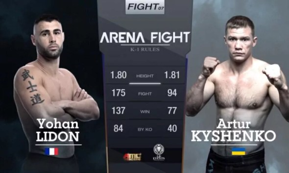 Yohan LIDON vs Artur KYSHENKO - Full Fight Video - Arena Fight