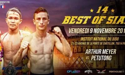 Arthur MEYER face au Champion PETUTONG pour sa première au Best Of Siam