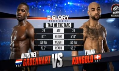 Yoann KONGOLO vs Murthel GROENHART - Full Fight Video - GLORY 31