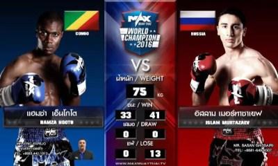 Hamza Ngoto vs Islam Murtazaev - Full Fight Video - MAX Muay Thai 2016