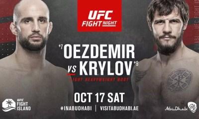 Volkan Oezdemir vs Nikita Krylov en Co-Main Event de l'UFC Ortega vs Korean Zombie