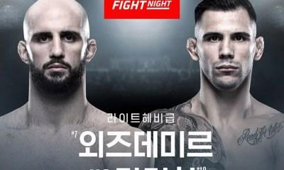 Volkan OEZDEMIR vs Aleksandar RAKIC annoncé pour l'UFC Busan