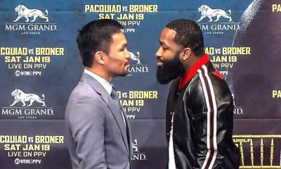 Manny PACQUIAO vs Adrien BRONER - Replay Video conférence de presse et Face à Face