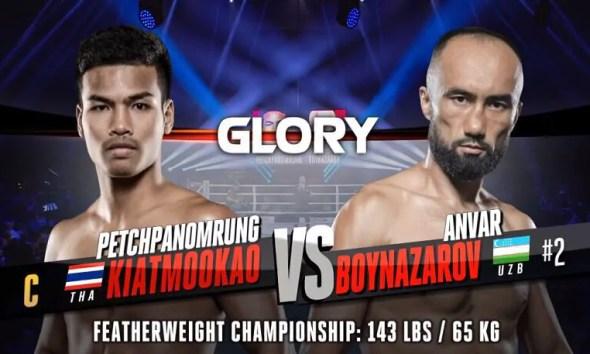 Petchpanomrung vs. Anvar Boynazarov - Full Fight Video - GLORY