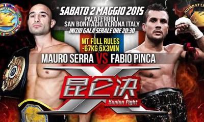 Fabio Pinca vs Mauro Serra - Fight Video - Kunlun Fight 2015
