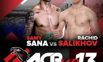 ACB KICKBOXING 13 - PARIS - SALIKHOV confiant face à SANA