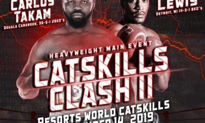 Carlos TAKAM vs Craig LEWIS le 14 septembre à Catskill aux USA