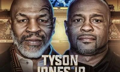 Mike Tyson vs Roy Jones - Carte des combats, Direct Live et Résultats