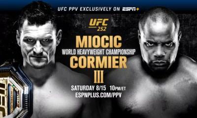 UFC 252 - Miocic vs Cormier 3 - Carte des combats, résultats, infos direct live et vidéos