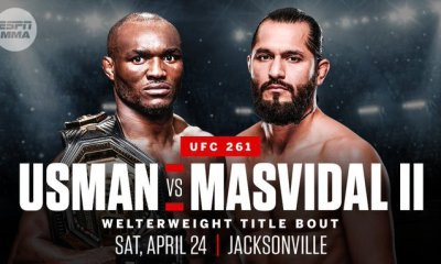 Usman vs Masvidal 2 officialisé pour le combat vedette de l'UFC 261