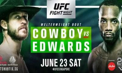 UFC Singapour - Cerrone vs Edwards - Résultats
