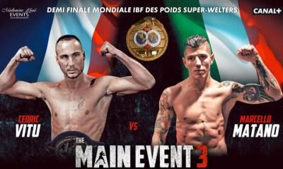 Cedric VITU vs Marcello MATANO - Boxing Fight Video