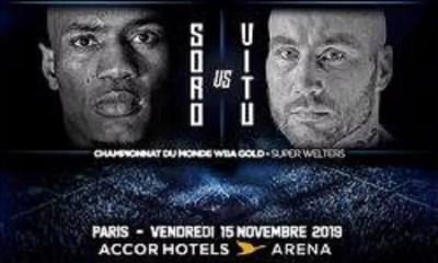 Cedric VITU vs Michel SORO officialisé pour le 15 novembre à Bercy