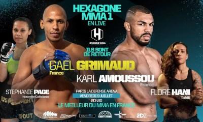 Hexagone MMA 1 - Grimaud vs Neto - Découvrez la carte des combats