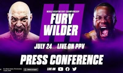 Tyson Fury vs Deontay Wilder 3 - Suivez la nouvelle conférence de presse en Direct