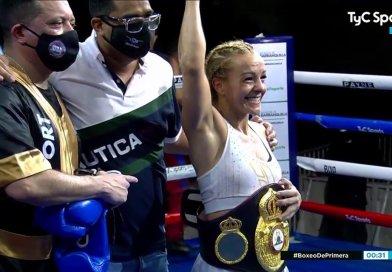 Yesica Bopp noqueó en Colombia y retuvo el Titulo Mundial