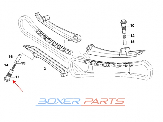 cylinder napinacza łańcucha rozrządu BMW R1200 R1150 R1100