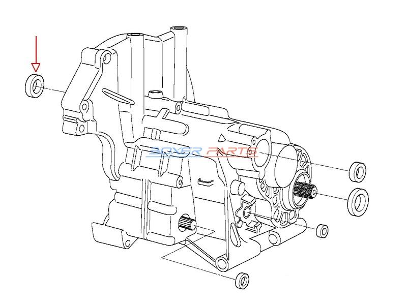 uszczelniacz wałka sprzęgłowego BMW 22s35x6