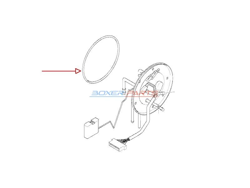 oring pokrywy zbiornika BMW 16141341008 akcesoria BOXER