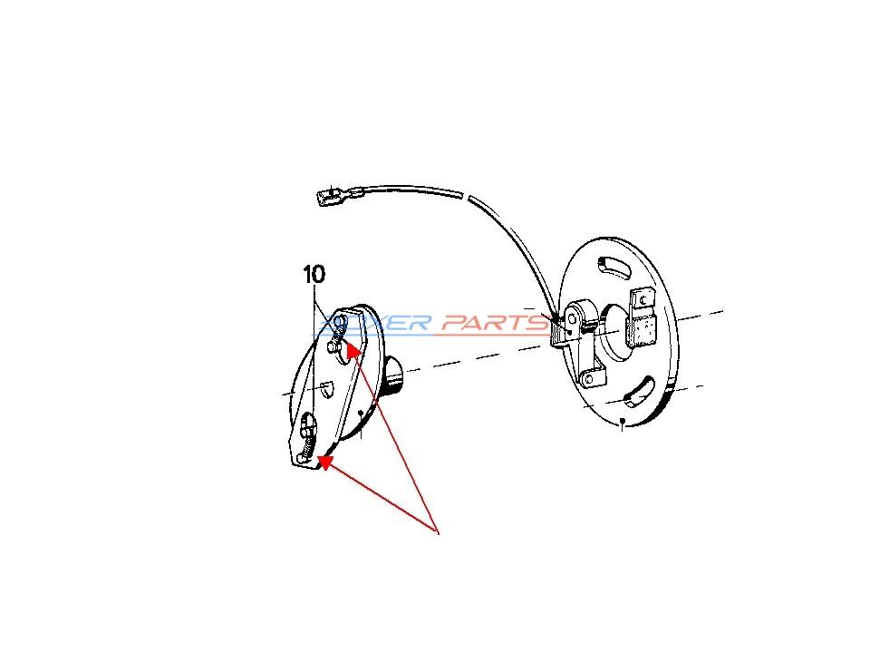 sprężynka aparatu zapłonowego BMW R100 R90 R80 R75 12111357627