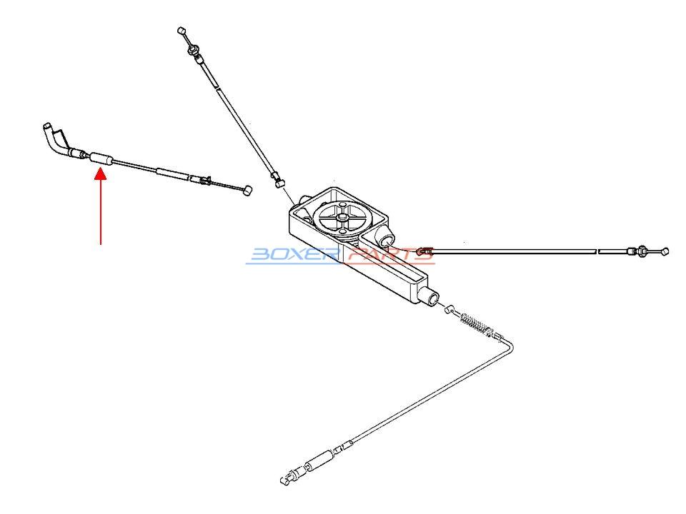 linka gazu R1100 RT R 1100 RS BMW 32737659691