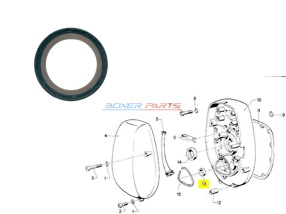 simmering zimer uszczelniacz wałka rozrządu BMW R60 R75