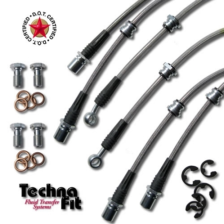 Techna Fit Brake Line Kit for Outback 'All' 2002-2004