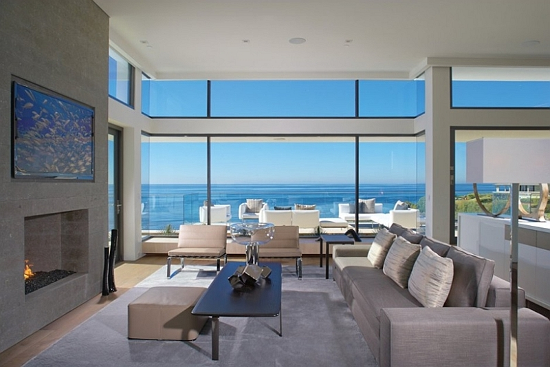 Modern-interior-in-neutral-colors-with-fireplace house california