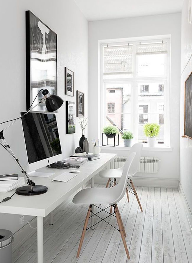staging a small home office