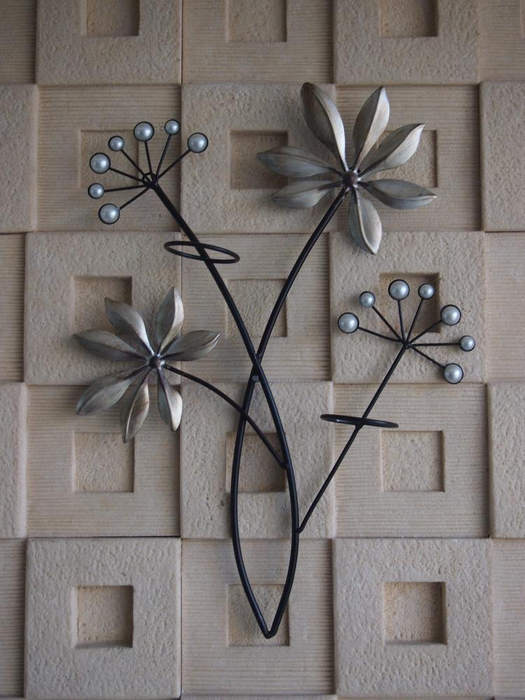 square metal wall decor (set of 4)