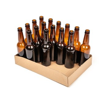 24 x 330ml bottle tray half full
