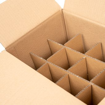 mail order box with inserts close up