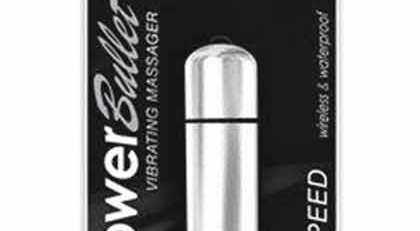 POWER BULLET VIBRATOR 3 SPEED SILVER