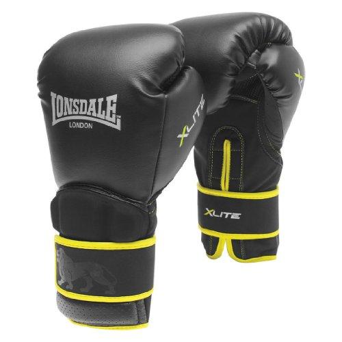 Lonsdale X X-Lite Bag Glove-Black/Acid Green, Small/Medium