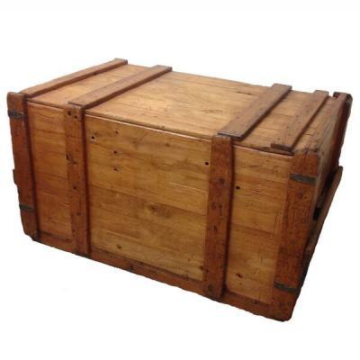 деревянная коробка для вывоза