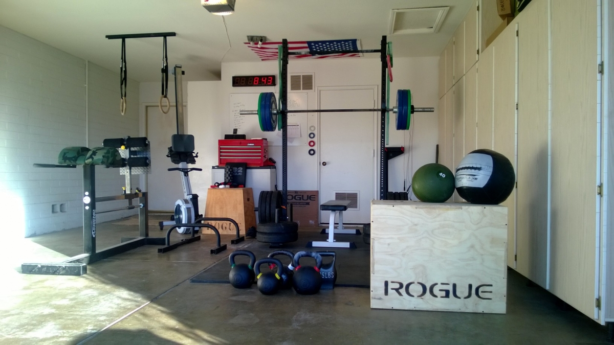 crossfit garage gym, Complete Crossfit garage setup