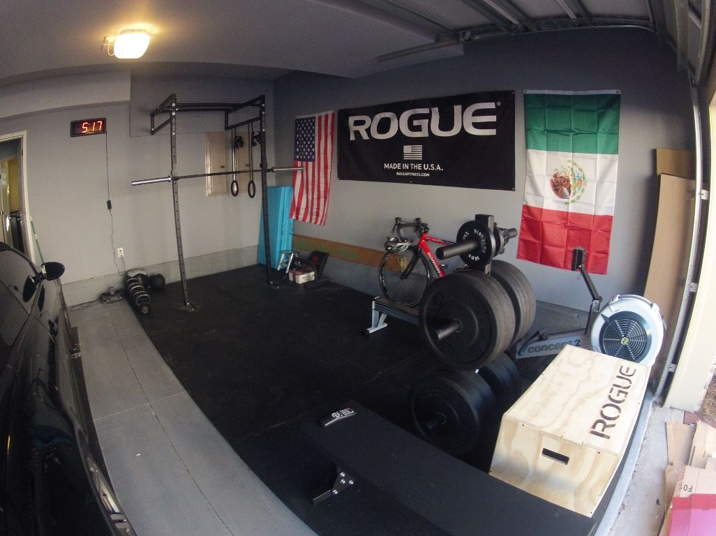 Long Crossfit garage gym
