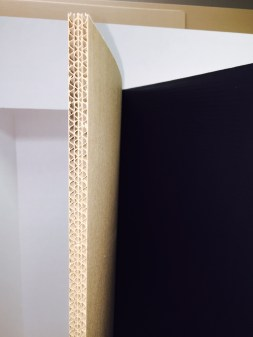 "1/4"" Thick, double wall corrugated cardboard"