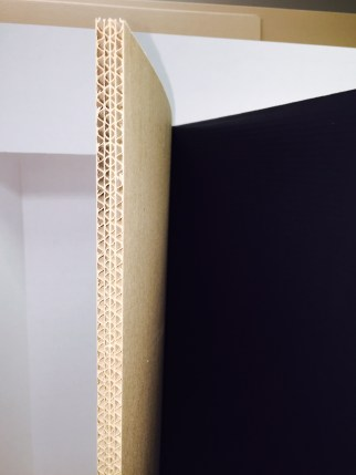 """1/4"""" Thick, double wall corrugated cardbord"""