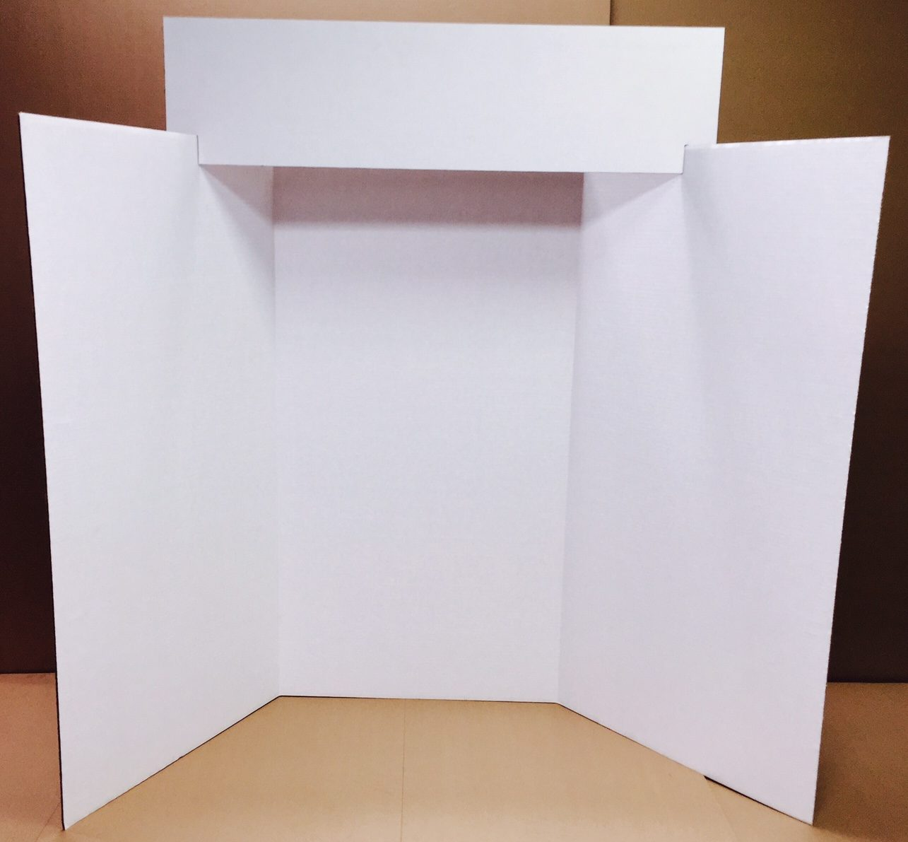 White Exhibit Board with Title Panel