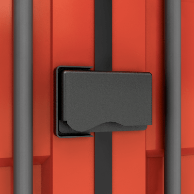 Container rental lockbox for security
