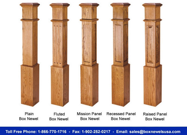 Buy Box Newels In The Usa   Mission Style Newel Post   Craftsman Style   Maple   Stained Handrail   Stair Banister   Raised Panel