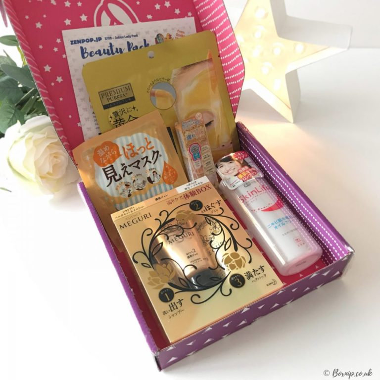 Zenpop Golden Lady Beauty Box
